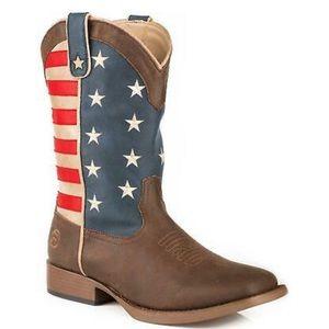 NWOB Roper toddler western American flag boot.
